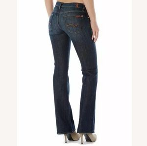 7 FOR ALL MANKIND Women Blue Jeans Bootcut Size 26